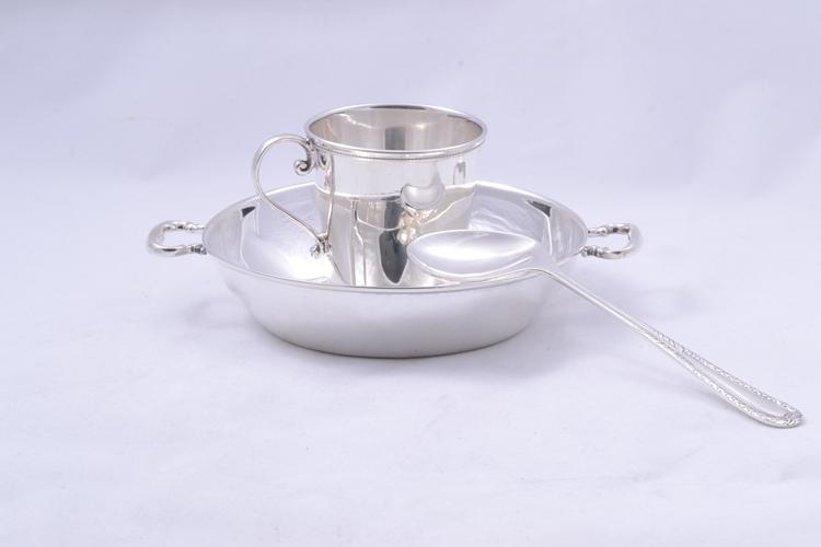 Argint masiv set bebelus cadou botez