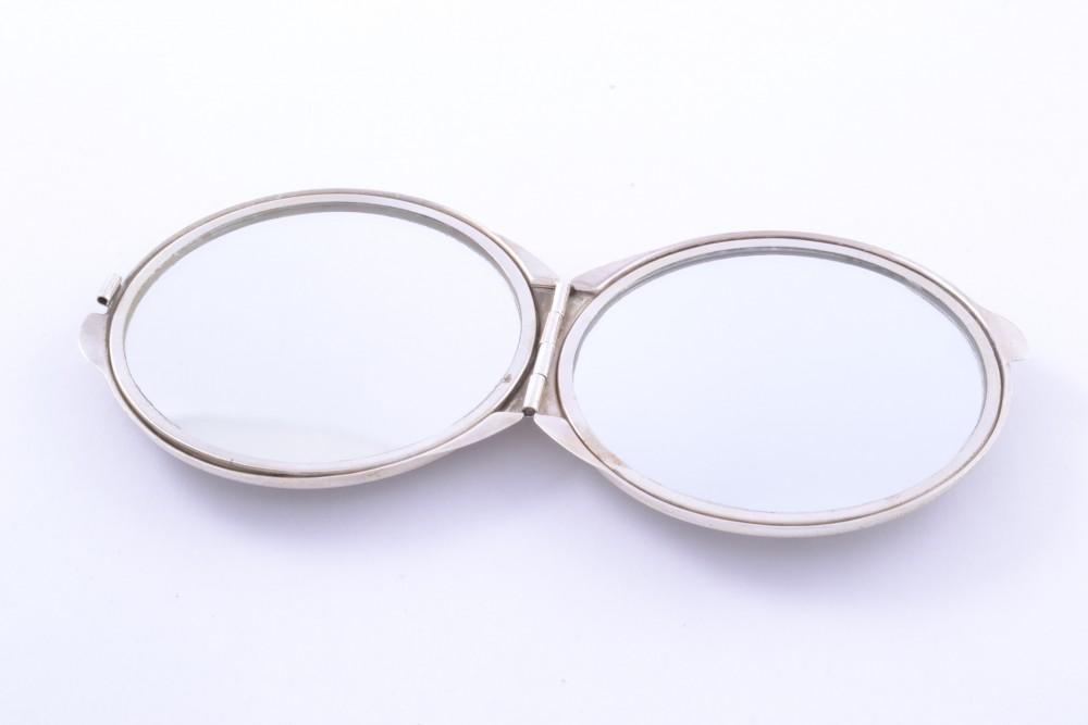Oglinda dubla poseta argint masiv