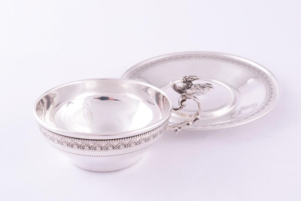 Cescuta si farfuriuta argint masiv