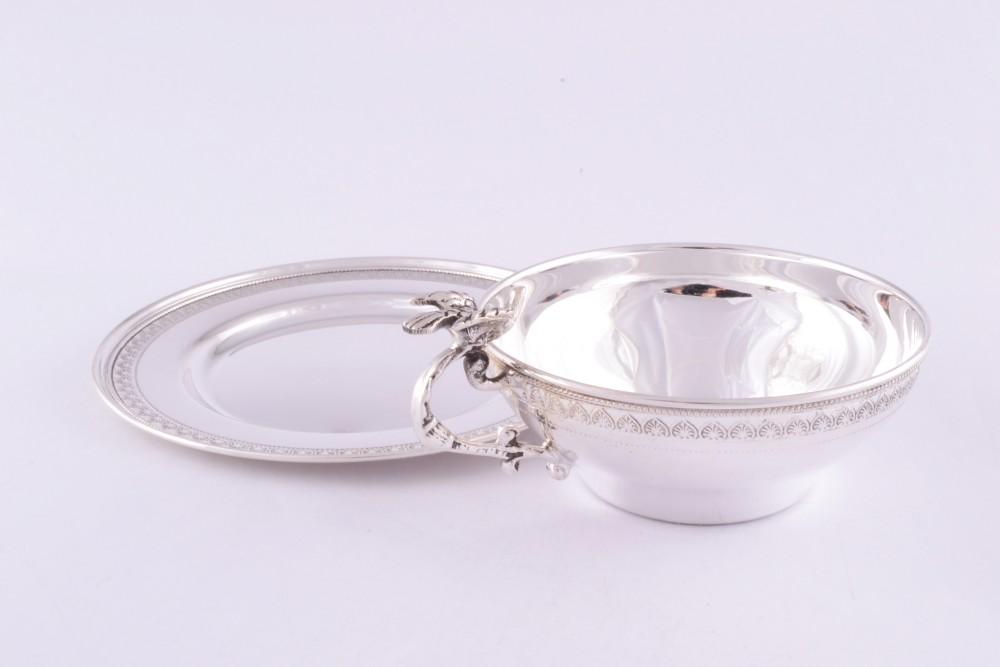 Ceasca si farfuriuta argint masiv