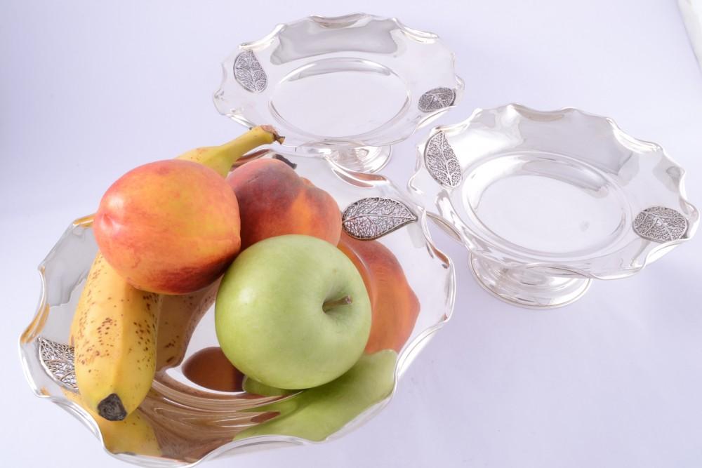 Fructiera argint masiv