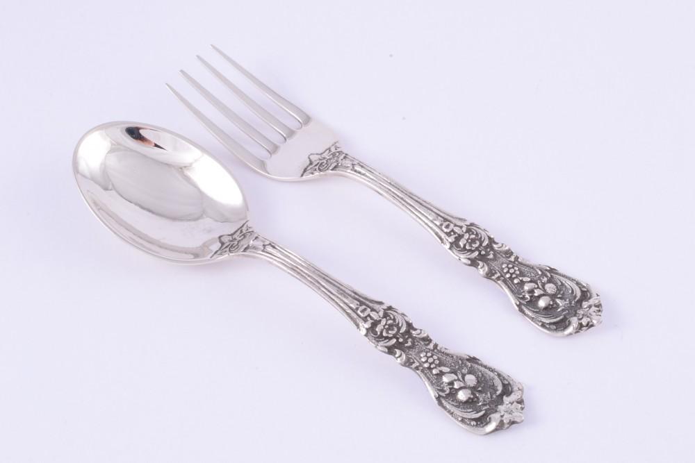 Obiecte argint masiv set lingurita-furculita copii
