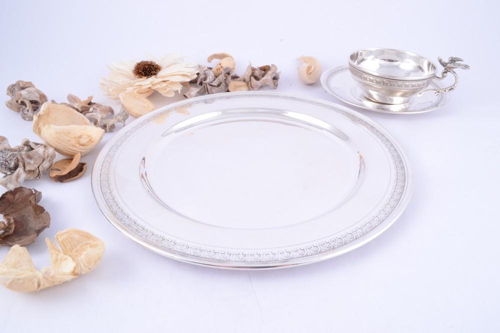 Tava-farfurie argint masiv