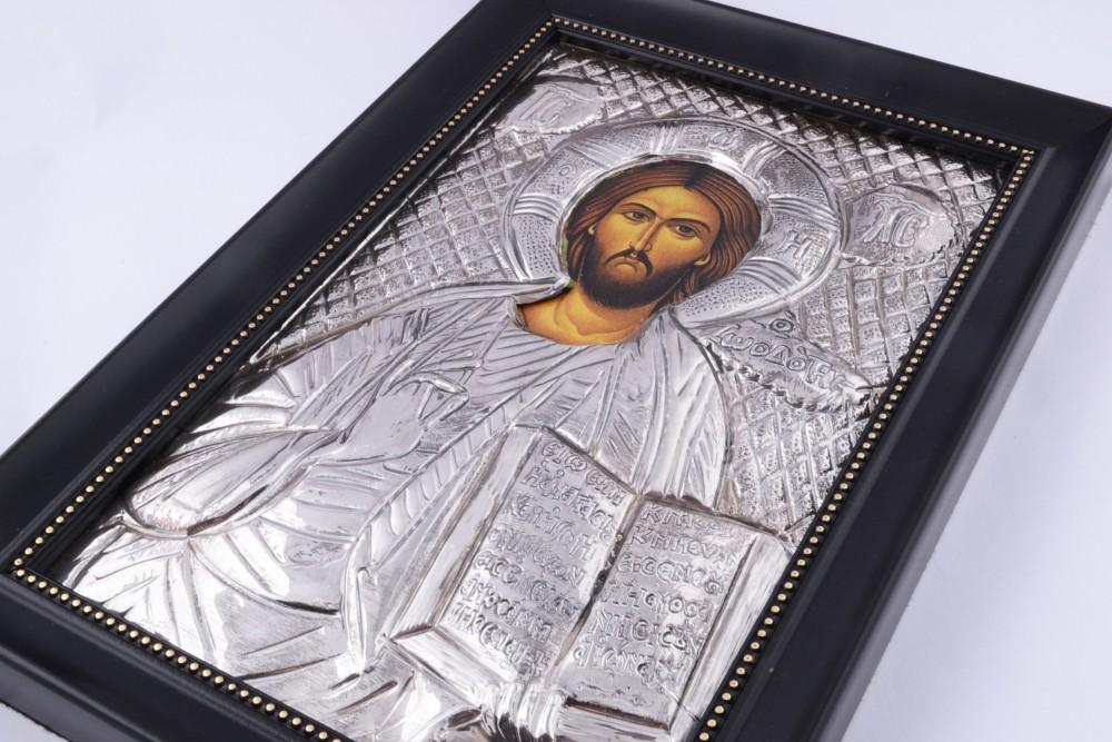 Obiecte argint masiv icoana Iisus