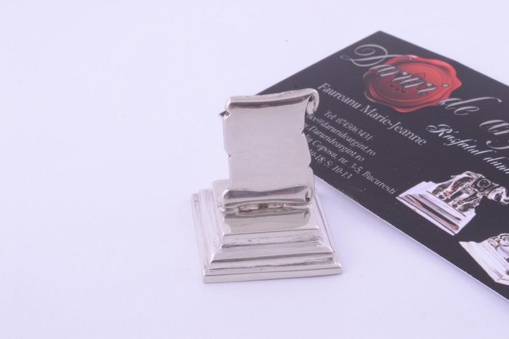 Suport carti vizita argint masiv