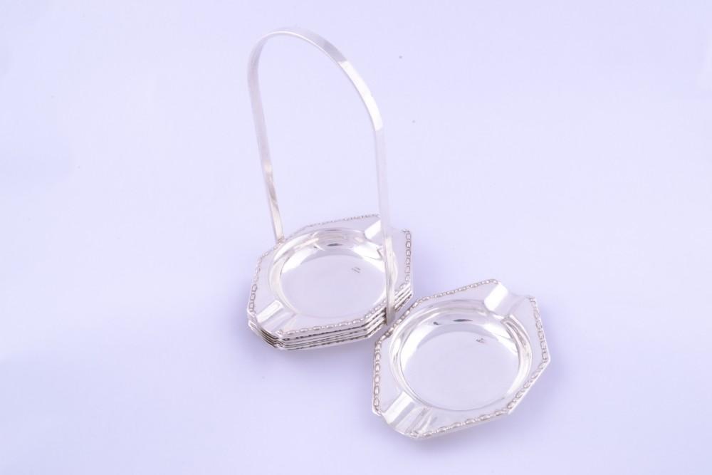 Set suport + 7 scrumiere detasabile obiecte argint masiv