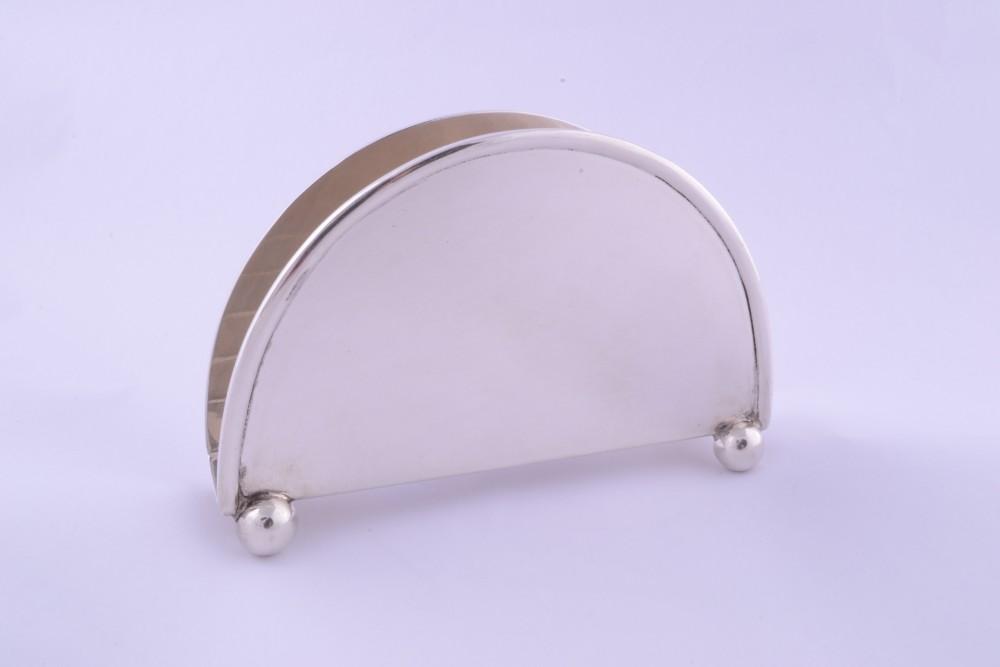 Obiecte  argint masiv suport servetele