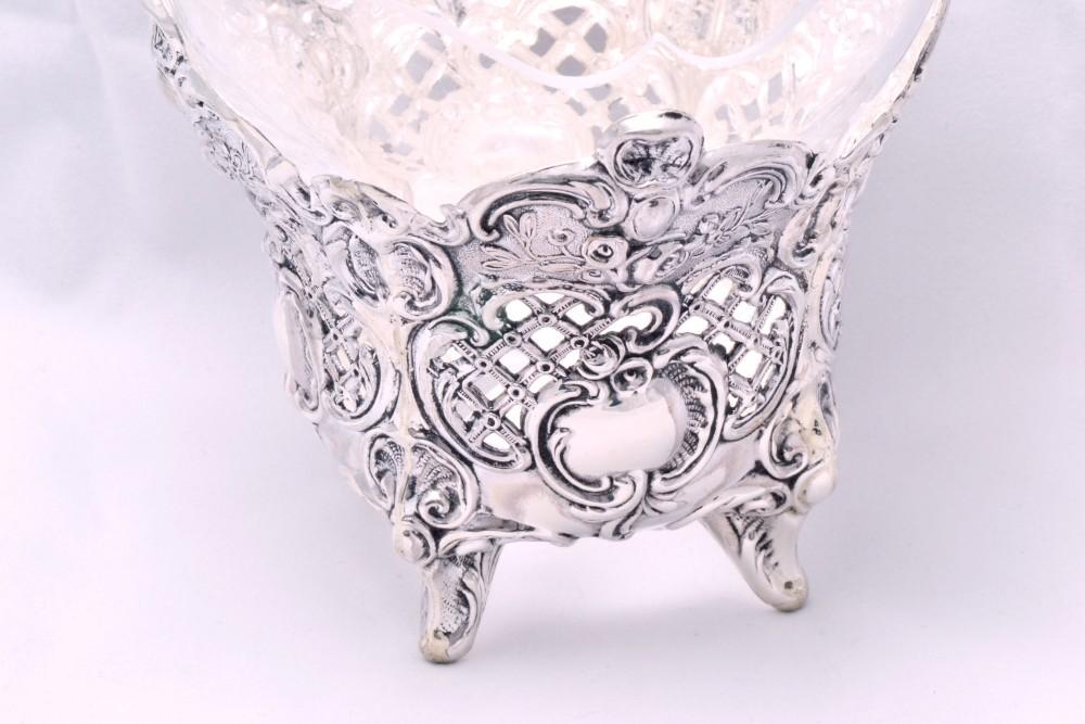 Bomboniera obiecte argint masiv cu sticla