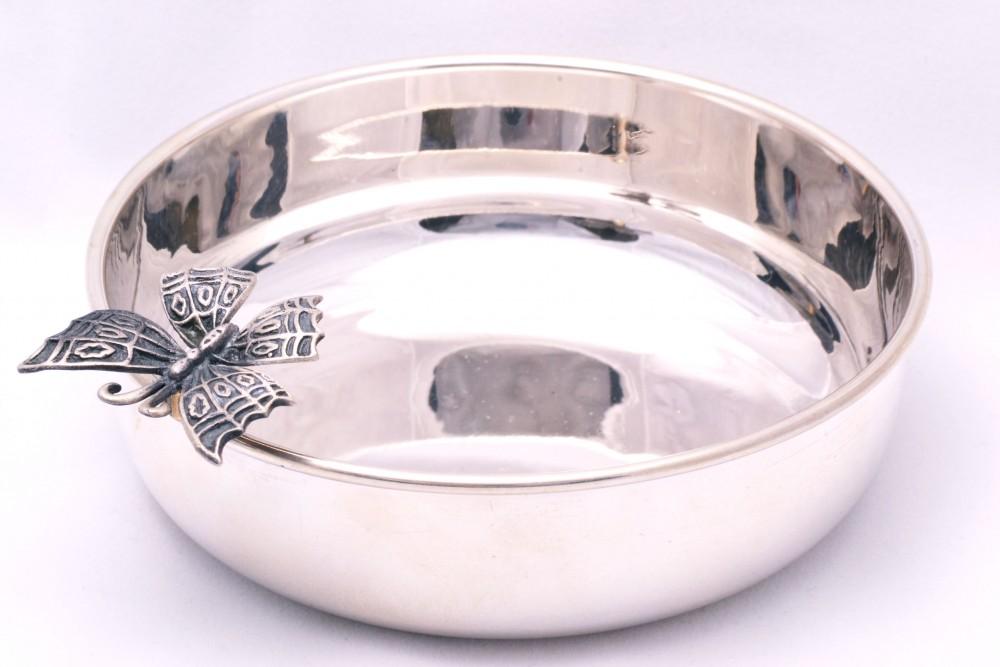 Bomboniera obiecte argint masiv fluturas