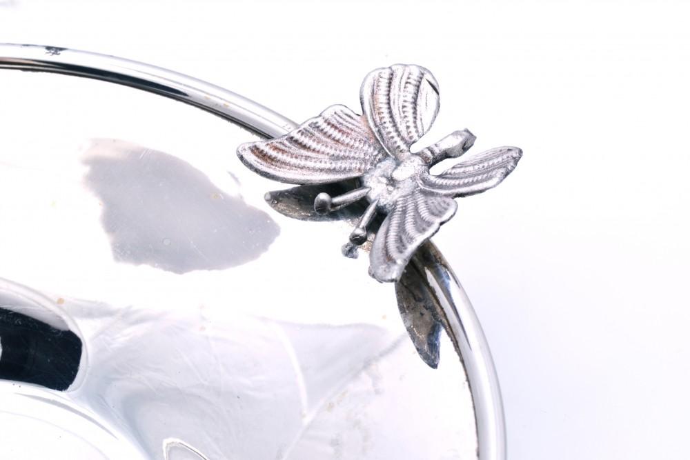 Bomboniera argint masiv cu fluturas