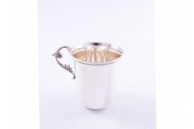 Pahar-canuta argint masiv