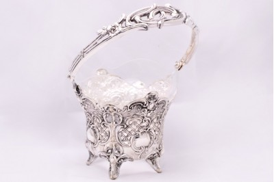 Bomboniera argint masiv cu sticla