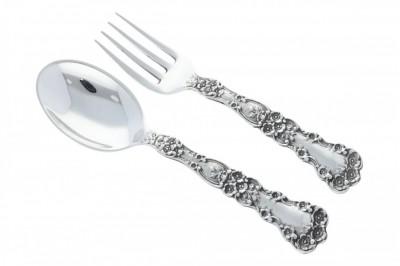 Set lingurita cu furculita argint pentru copii