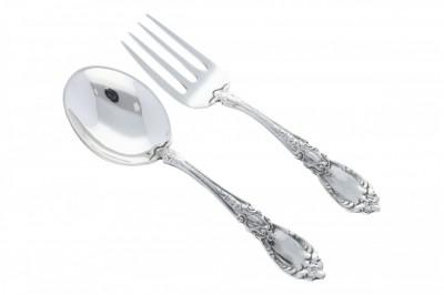 Tacam argint masiv lingurita fuculita